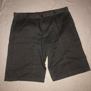 Burnside plaid gray shorts EUC SIZE 36